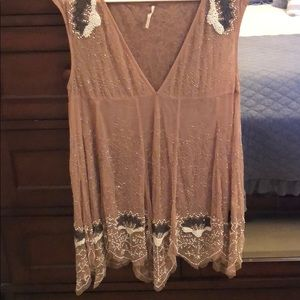 Free People detailed bead dress